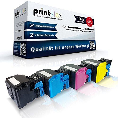 4x Kompatible Tonerkartuschen für Konica Minolta Magicolor-4750-DN Magicolor-4750-EN - XXL Toner Patronen - Drucker Patronen (Minolta Farb-drucker Konica)