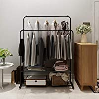 HOMERECOMMEND Metal Clothes Rack Heavy Duty Grade Clothing Garment