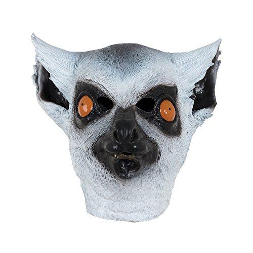 Bristol Novelty BM533 Lemur Maske, weiß, (Lemur Kostüme)