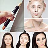 #5: 2 : 2 In 1 Double-ended Face Foundation Concealer Highlighter Stick Natural Face Make Up Bronze Hide Dark Contour Pen Stick