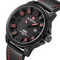 NUEVO Militar Hombre Reloj Hombres Analog 3d Piel Facial cuarzo reloj de pulsera k382