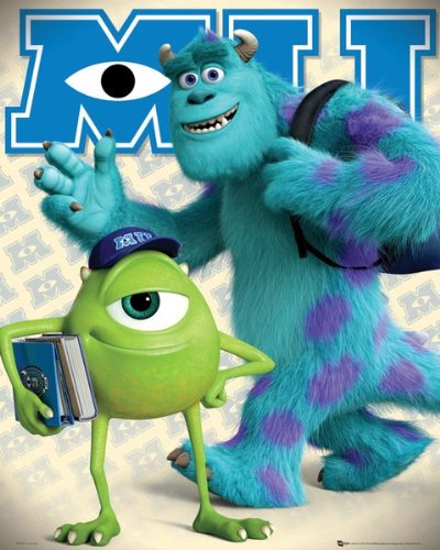 Monsters University (Mike and Sulley) - Mini Poster - 40cm x 50cm