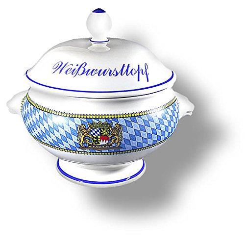 Bayerischer Weißwurst-Topf oder Weißwurst-Terrine 2,75l