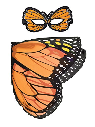Dreamy Dress-Ups 66063 Mask + Wings, Flügel + Maske, Orange Monarch Butterfly, Schmetterling Monarchfalter Danaus plexippus