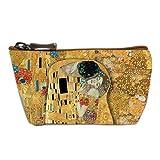 Les Trésors De Lily [Q6643] - Porte-Monnaie Artisanal 'Gustav Klimt' (la Baiser) - 13x8 cm