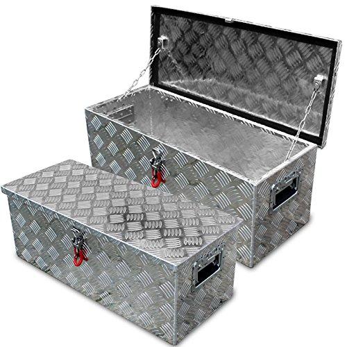 Preisvergleich Produktbild Alukiste m. Abus Schloss, Deichselbox Alubox Staubox Werkzeugkiste Tool Box