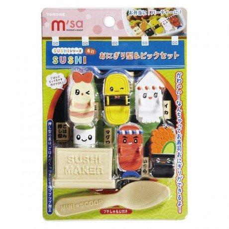 Adorable kit de création de sushis multicolore, cuillère,