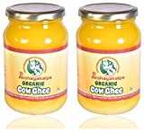 AKSHAYAKALPA Organic Cow Ghee - 490 ml (PACK OF 1) Purest, Tastiest And Lipsmacking Pure Ghee Made From Pure Organic Cow Milk Fat - A Taste of Original Home Made Ghee