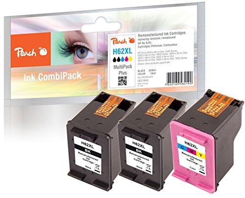 Peach spar pack plus testine di stampa compatibile con hp no. 62x l, c2p05ae, c2p07ae