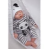 "Rayish Reborn Baby Doll 20"" Realista realista Baby Doll Magnetic boca encantadora Lifelike Cute Sleeping muñeca coleccion hobby"