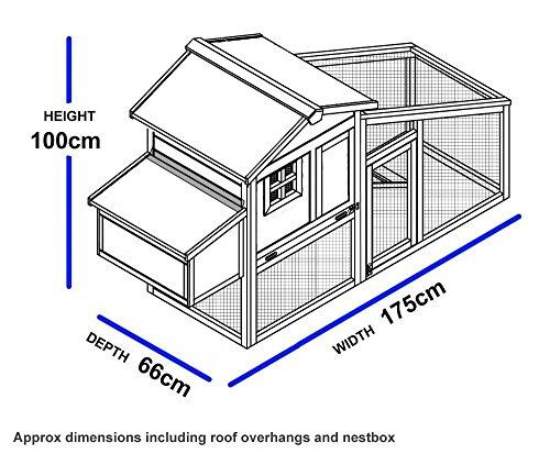 NCH10 Kunststoff und Holz Hühnerstall HEN HOUSE GEFLÜGEL ARK HOME NEST RUN COUP - 5