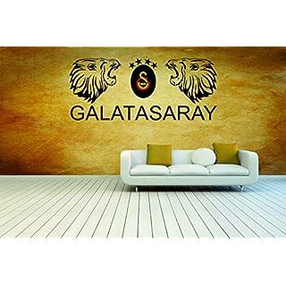 3 Farbig Galatasaray als Wandtattoo Beschreibung beachten!! I Aufkleber in 27 Farben und versch. Gr. - ca. 139 x 60 cm (bxh))- SCHWARZ