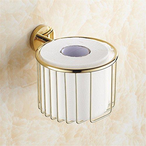 LOSTRYY Goldenes Bad WC-Papier Halter multifunktionales Papier Handtuch Korb -