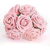1psc Bouquet de 50 roses artificielles en mousse de mariage romantique Rose
