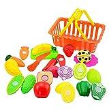 Kinder so tun Rollenspiel Küche Obst Gemüse Lebensmittel Spielzeug Schneiden Set Geschenk YunYoud kinderspielzeug billige spielzeuge kinderspielsachen günstig
