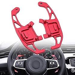 juman634 Lenkradschaltung Paddelschaltung verlängert für Golf GTI R GTD GTE MK7 7 Polo GTI Scirocco 2014-2019, 1 Paar, Mehrfarbig