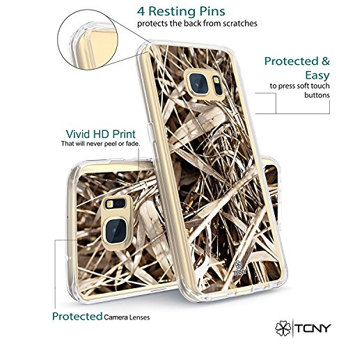 iPhone 6s Anchor Case - True Color Clear-Shield Nautical Coral Anchor on Stripes Printed on Clear Back - Perfect Soft and Hard Thin Shock Absorbing Dustproof Full Protection Bumper Cover Camo