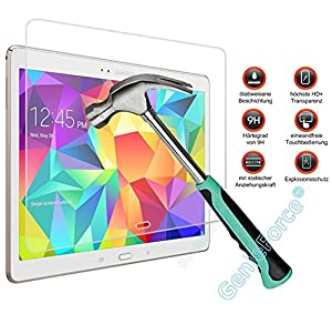 Gforce75® ?Premium Gehärtetes HD+ Panzerglas für Samsung Galaxy Tab S 10.5 T800 T805 . Displayschutz . Panzerfolie Sicherheitsglas . Tempered Protection Screen Glass . 0,3mm Hartglas . 9H Ultra Hart . 2.5D round edge NEU