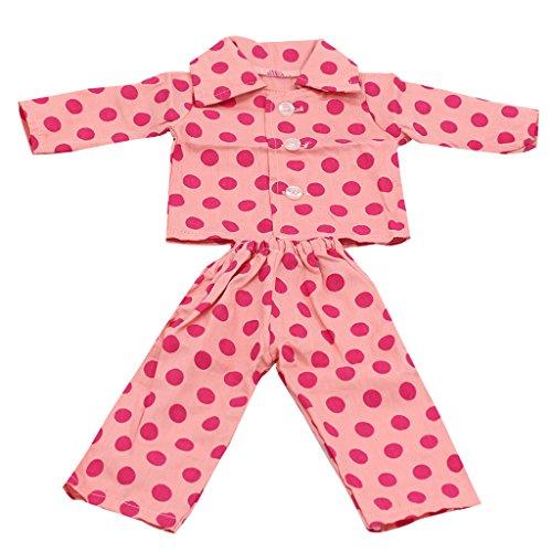 18-Zoll Puppe Kleidung Kleid/Pyjamas für American Girl-Puppen ver.Farbe - #17