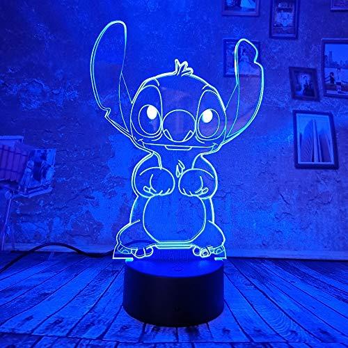 orangeww 3d Illusion Lamp / 3d Night Light / 7 colores cambiantes...