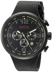 red line Mens RL-50057-BB-01-YEL Apex 12 Analog Display Japanese Quartz Black Watch