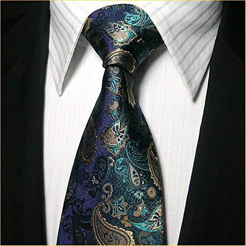 WUNDEPYTIE Seidenkrawattenmänner des Blauen Musters des Saphir-Musters Formelle Geschäfts-Bindungsklage, Saphirmuster (Saphir-krawattennadel)