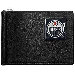 NHL Edmonton Oilers Leather Bill Clip Wallet