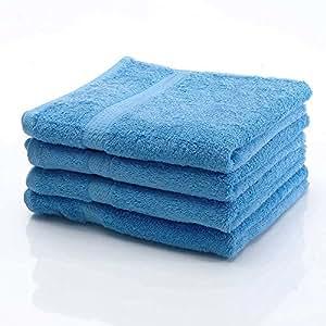 10 tlg. etérea Handtuchset in Hellblau, schwere flauschige (gekämmte) Baumwolle 500 g/m² Qualität, 2 Badetücher / Duschtücher, 4 Handtücher, 2 Gästetücher und 2 Waschhandschuhe