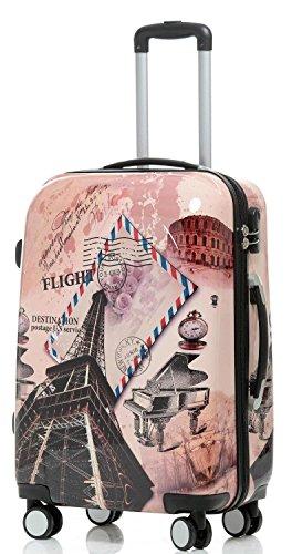 Reise Koffer Trolley mit Polycarbonat ABS Hartschale und Motiv BB (4: 115 Liter - Gr. XL, Eiffelturm) - 2