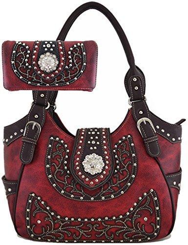 Western Damen 10462526 Handtasche und Geldbörse für Damen im Set, Cowgirl-Stil Large