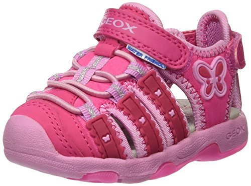 Geox Baby Mädchen B Sandal Multy Girl B, Pink (DK FUCHSIAC8321), 22 EU