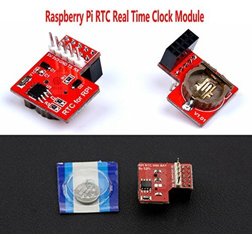 CQRobot Raspberry Pi RTC Real Time Clock Module - Compatible Raspberry Pi  3, USE I2C Communication Mode, Onboard DS1307 Clock Chip and a 1220 Coin
