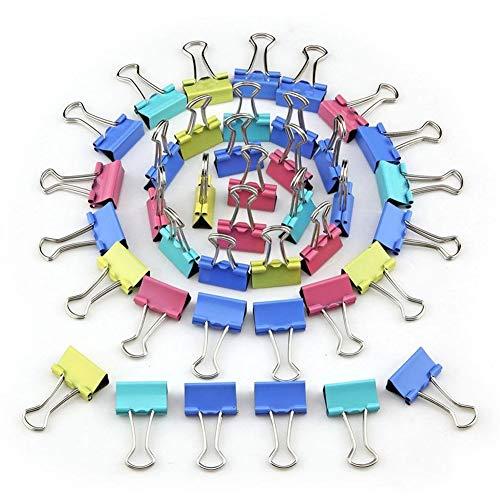 Verschiedene farbige Binder-Clips, Büroklammern, Gummibänder, Büroklammern Jumbo, Büroklammern Klein, Binder-Clips Klein, Binder-Clips Mittel, Binder-Clips Mini, Büroklammern, Foldback-Clips, 48PCS