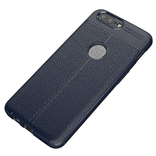 ONEPLUS 5 Weich Hülle,EVERGREENBUYING flexibel Silikon Cover TPU 1+ 5 / 1+Phone 5 Tasche Ultra-dünne Handyhülle Rückschale Case für OnePlus 5 Azurblau Azurblau