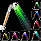 Weinhsl Lampada A LED A Ioni Negativi A LED con Ventola Fluorescente Sovralimentata A Risparmio Idrico - Transparent 7 Color Large