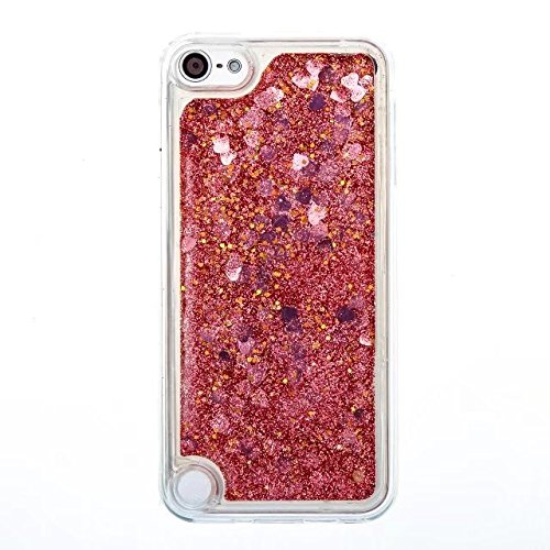 Coque iPhone 4, Coque iPhone 4S, Flowing Liquide Floating Luxe Bling Glitter Sparkle Case Cover pour iPhone 4 / 4S 6# Touch 6