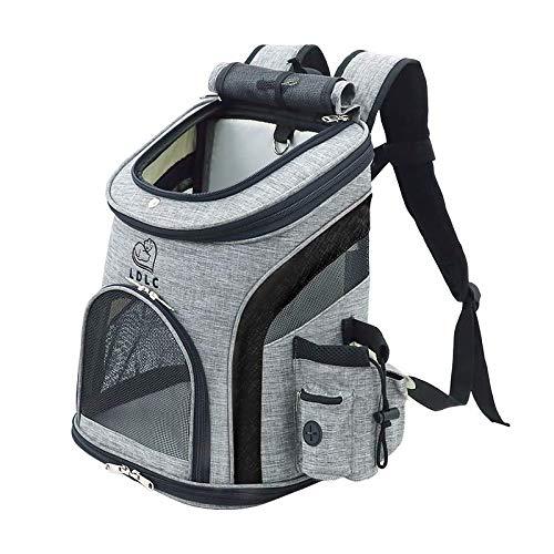 REAYOU Haustier Reise Rucksack Haustier Rucksäcke haustiertragetasche Atmungsaktive Outdoor Faltbarer für Hunde und Katzen (Black)