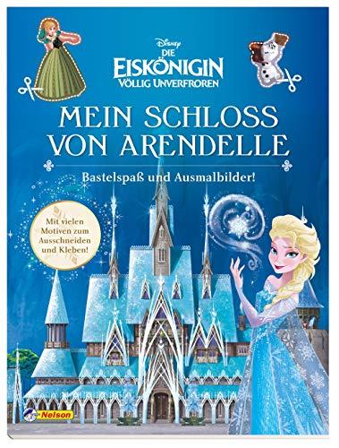 Disney Die Eiskönigin: Mein Schloss von Arendelle - Bastelspaß und Ausmalbilder!: Mit vielen Motiven zum Ausschneiden und Kleben! (Disney Eiskönigin)