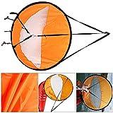 42'' Kajak Segel Abwind Segelpaddel Klapp Kanusegel Kanusegel mit transparentes Fenster Kajak Zubehö Cocohot (Orange)