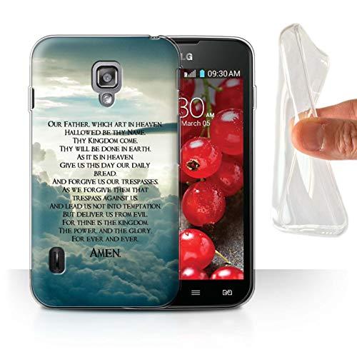 Stuff4® Gel TPU Hülle/Case für LG Optimus L7 II Dual/The Lord's Prayer Muster/Christliche Bibel Vers Kollektion (Ii L7 Optimus Lg Dual Case)