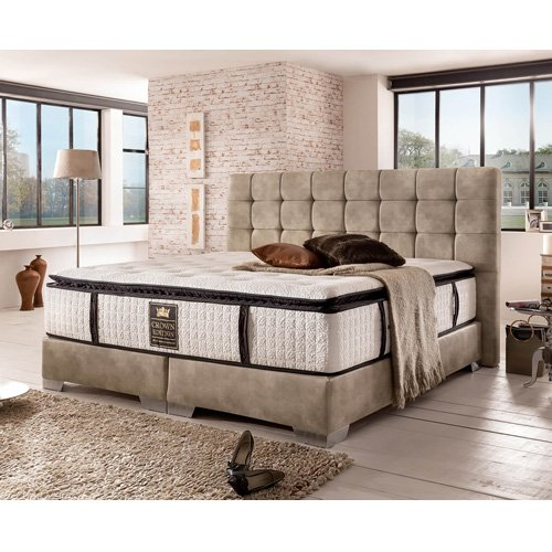 London Boxspringbett Deluxe (180x200, Stone)
