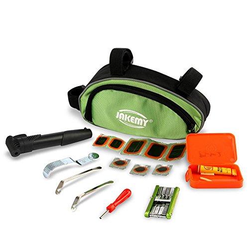Fahrrad Reparatur Set, Fahrradwerkzeug Flickzeug mit Pumpe und Andere Werkzeuge