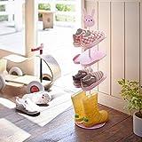 Addfun®Kids Schuhregal,Kreativ Bodenausführung rotierend Schuh Lagerung Gestell Dreidimensional Karikatur Kinder 's Mappe Schuhregal(Hase)