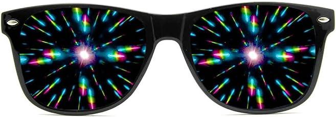 GloFX Ultimate Diffraction Glasses - Matte Black Limited Edition - Rave Eyewear Ravewear EDM Festivals Light Shows Rainbow Prism Kaleidoscope Refraction Lenses
