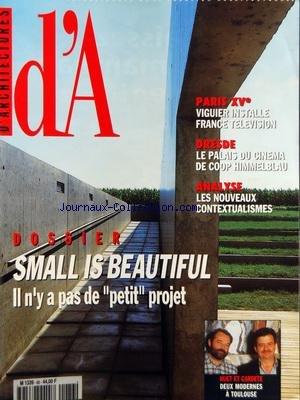 ARCHITECTURES (D') [No 86] du 01/09/...