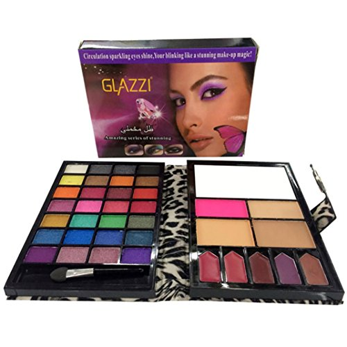 Fards à paupières,28 couleurs cosmétiques scintillement Matte maquillage palette ombres ombre à paupières par LHWY