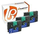 Bubprint 3 Schriftbänder kompatibel für Brother TZE-731 TZE 731 für P-Touch 1280 2430PC 2730VP 3600 9500PC 9700PC D400VP D600VP H100LB H105 P700 P750W