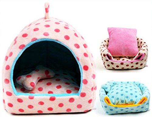 Hunde Pet-kisten Für Kleine (WenL Pet Supplies Hunde Jurten Bett Kennel Cat House Betten Welpen-Geschenk Herausnehmbare Innen,Littlebit-S)
