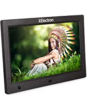 XElectron® 10 inch Digital Photo Frame/Video Frame High Resolution Display with Motion Sensor and Remote Control Plays Picture/Music/Video by USB, SD/MMC, Clock and Calendar Function