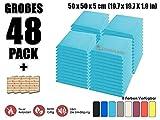 Super Dash Baby Blau (48 Stücke) von 50 X 50 X 5 cm Bevel Decke Studio Akustikschaumstoff Noppenschaumstoff Akustik Dämmmatte Schallisolierung Schaumstoff Polster Fliesen SD1039
